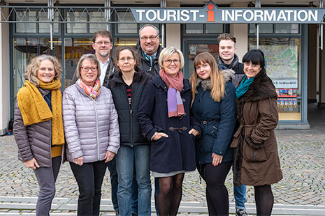 Team der Tourist-Information und Touristik